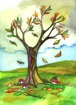 In Autunno Le Foglie Di Alcuni Alberi Incominciano A Cambiare Colore: Dal  Verde Passano Al Giallo E Poi Al Marrone, Si Seccano E Cadono Lasciando I  Rami ...